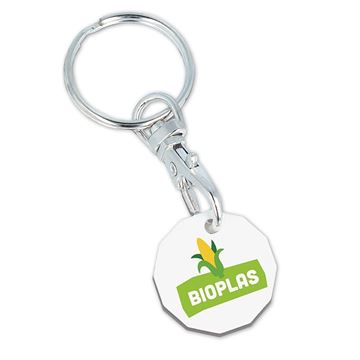 Picture of Bioplastic Trolley Coin Keyring