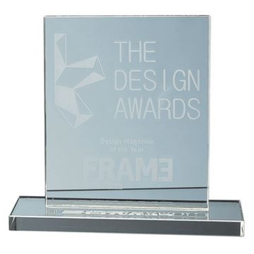 Picture of 15cm x 12.5cm x 12mm Jade Glass Rectangle Award