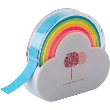 Picture of Cloud and rainbow memo tape dispenser