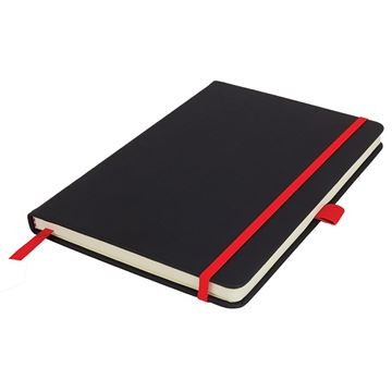 Picture of A5 De Niro Lined Notebook with pocket.